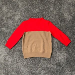 J Crew Minimalist Colorblock Mockneck Sweater